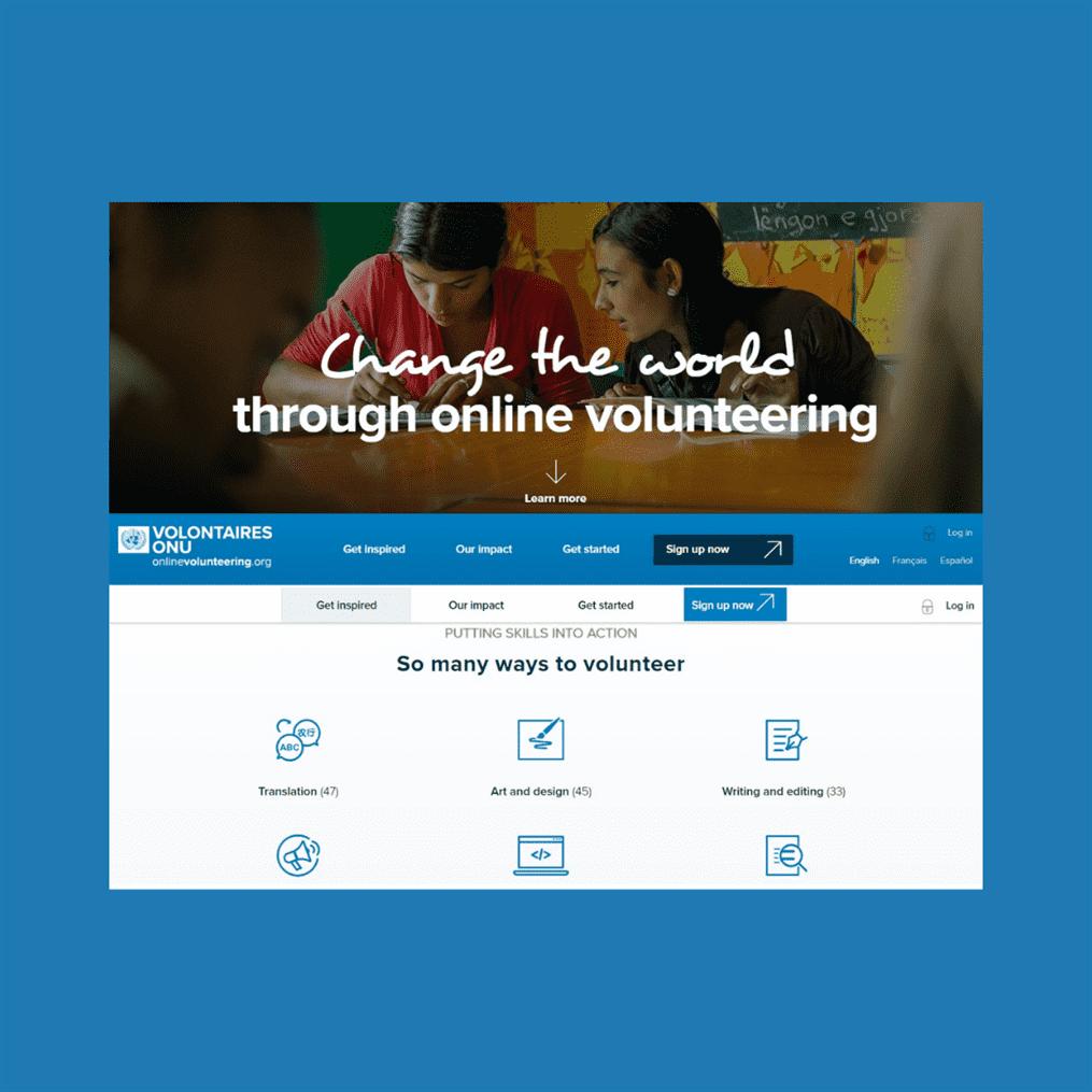 """Plataforma de Voluntariado Online da ONU – """"Online Volunteering"""""""